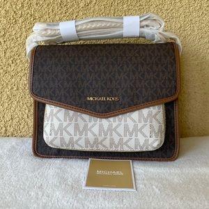 NWT Michael Kors Regina Flap Medium Shoulder Bag